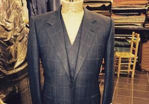 Three piece flannel suit