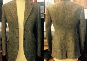 Harris Tweed, Single breasted ladies jacket.
