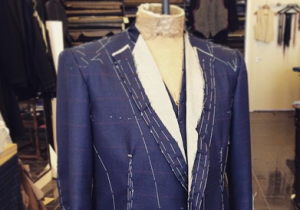 Baste fitting for a three piece suit.