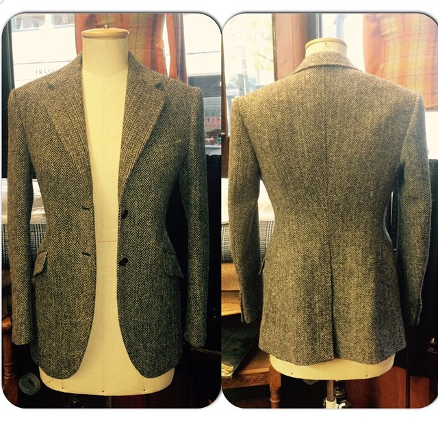 Harris Tweed, Single breasted ladies jacket. @amandacbrooks #bespoke #bespoketailoring #ridingjacket
