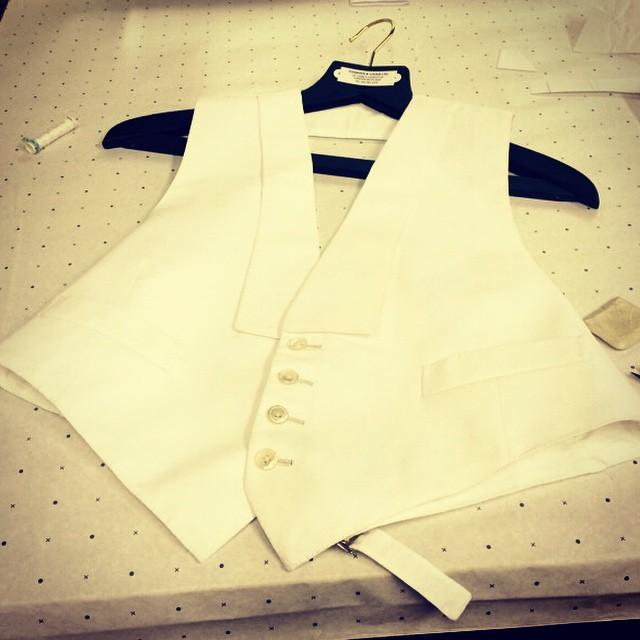 #whitewaistcoat #bespoketailoring #tailor